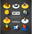 Isometric flat icons set 51 vector image vector image