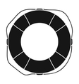 Lifebuoy icon in black style isolated on white vector image