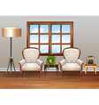 Living room with luxury armchairs vector image vector image