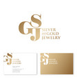 logo s g and j monogram compound business card vector image vector image