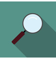 Loupe magnifier icon flat vector image vector image
