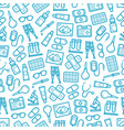 medical hospital and pharmacy seamless pattern vector image vector image