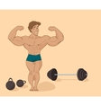 muscular man bodybuilder - inflated athlete in vector image