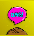 omg concept human head and speech bubble vector image