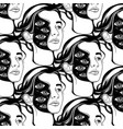 pattern with hand drawn of vector image vector image