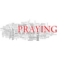 pray word cloud concept vector image vector image