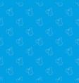 respirator pattern seamless blue vector image vector image