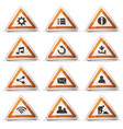road sign icons and buttons for ui game vector image vector image