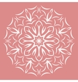 Round white flower pattern on pink background vector image