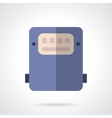 Saving energy device flat color icon vector image