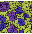 Seamless floral texture with purple blue flowers vector image vector image