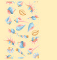 seamless pattern with seashells vector image vector image