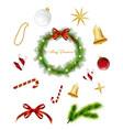 set christmas items vector image vector image