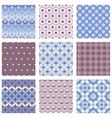 set circle seamless patterns vector image vector image