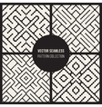 Set of Four Seamless Black And White Ethnic vector image