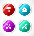 Set of stickers with icons vector image vector image