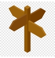 Signpost isometric 3d icon vector image vector image