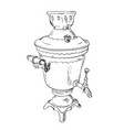 sketch of samovar vector image