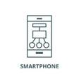 smartphone scheme structure line icon vector image