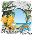 summer vacation FRAME vector image vector image