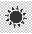 Sun sign Dark gray icon on vector image vector image