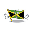 surprised flag jamaica character shaped on mascot vector image vector image