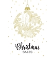 The christmas sales card vector image vector image