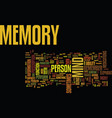 the memory of the mind text background word cloud vector image vector image