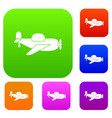 toy plane set color collection vector image vector image