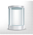 transparent glass museum showcase podium mock up vector image vector image