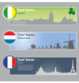 Travel banners vector image