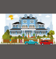 victorian family house vector image