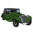 Vintage green cabriolet vector image