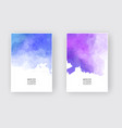 watercolor design banners vector image