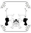 wedding flourishes silhouette vector image vector image