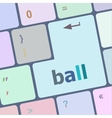 word ball on computer pc keyboard vector image