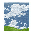 hand drawn of sky vector image
