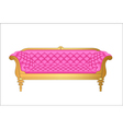 a pink vintage sofa on white vector image