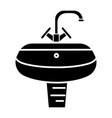 washbasin - washstand icon vector image