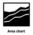 area chart icon simple style vector image