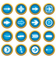 arrow icons blue circle set vector image vector image