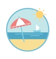 Beach equipment vector image