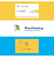 beautiful car garage logo and business card vector image vector image