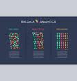 big data transformed through analytics into vector image vector image