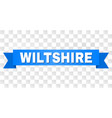 blue ribbon with wiltshire caption vector image vector image