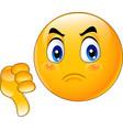 cartoon dislike emoticon vector image