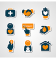 Charity and donation paper cut icons vector image vector image