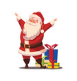 christmas santa claus with arms wide ope vector image vector image