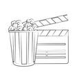 clapperboard cinema icon image vector image vector image