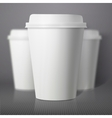 Coffee Cup Set with Blur Depth of Field